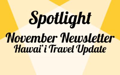 Hawai'i Travel Update November Newsletter
